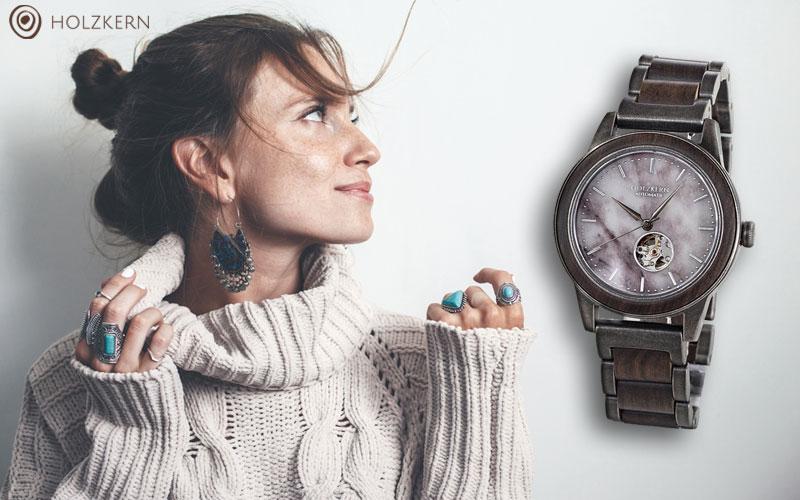 Reloj de madera sostenible Holzkern Paris