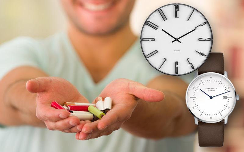 Tipos de baterías distintos para relojes